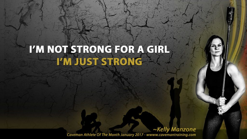 I'm not strong for a girl, I'm just strong