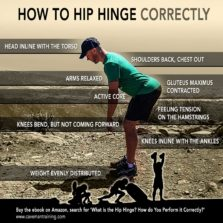 How to hip hinge infographic