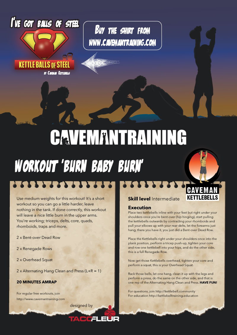 Kettlebell workout burn baby burn