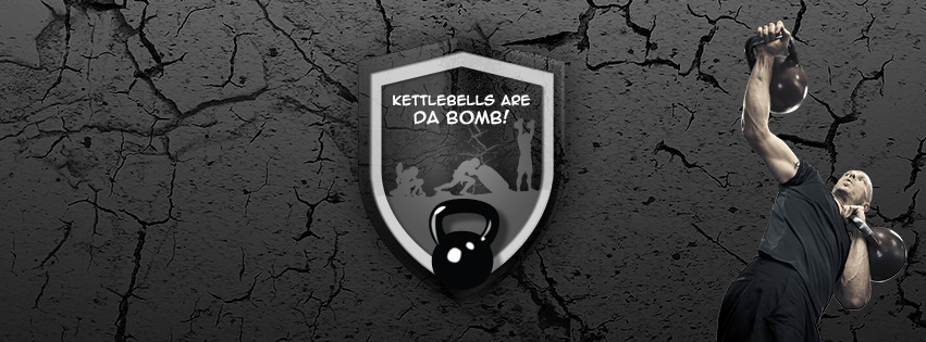 Kettlebells are da bomb! free facebook cover