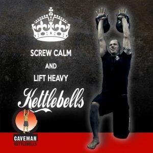 Screw calm and lift heavy kettlebells