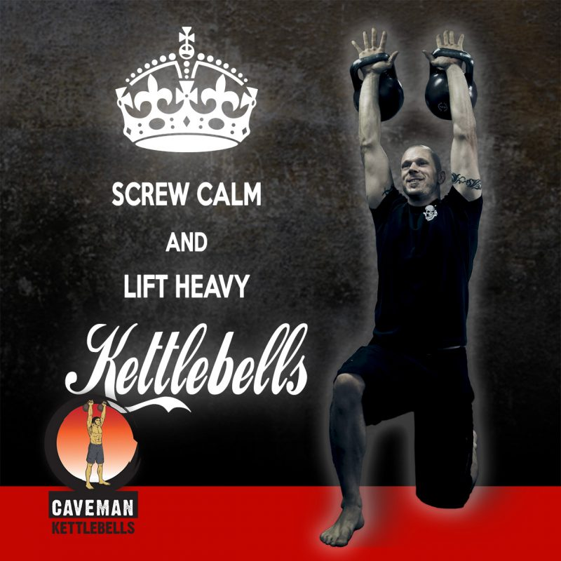 Screw calm and lift heavy kettlebells