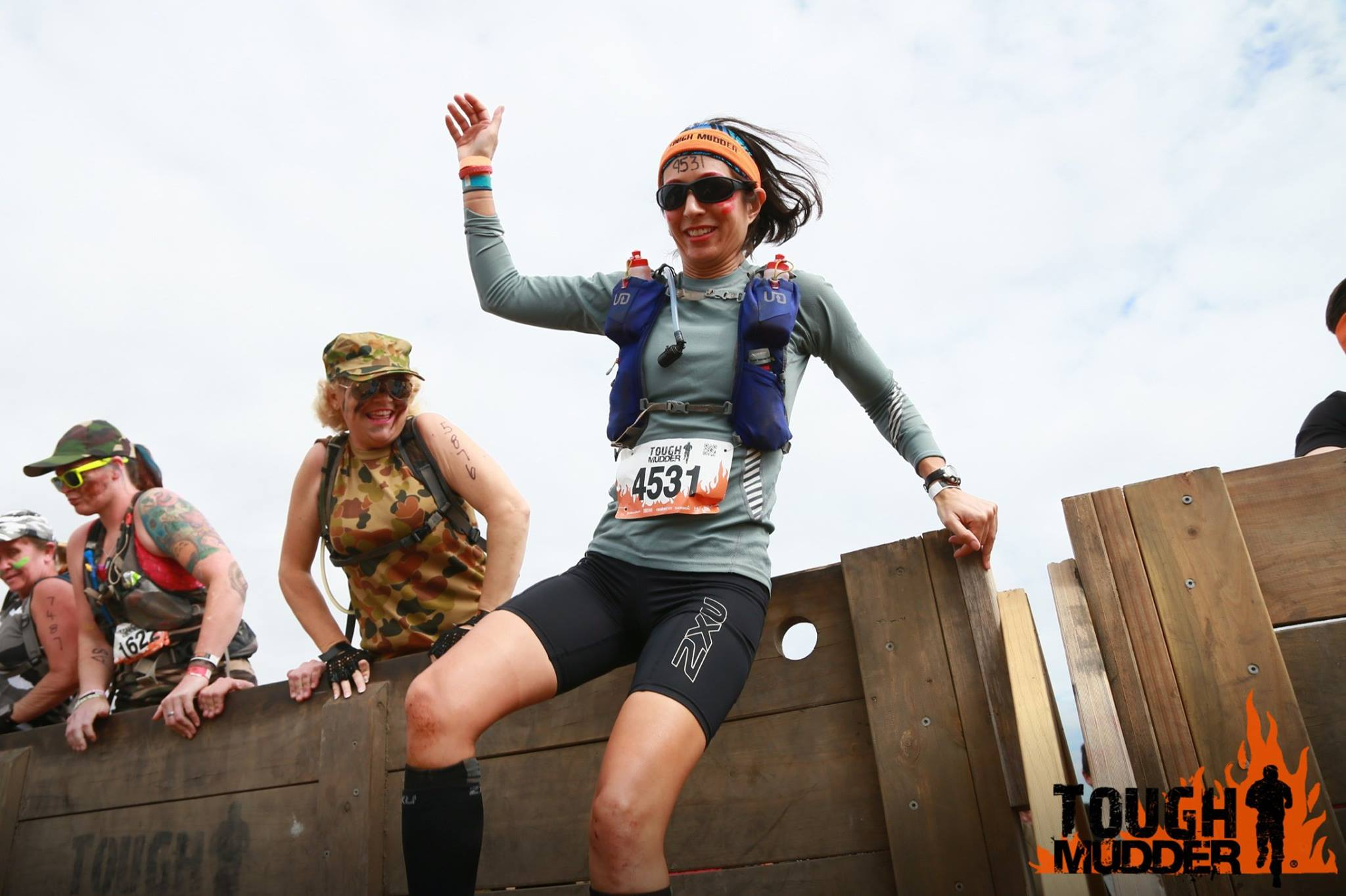 Sandra participating in Tough Mudder