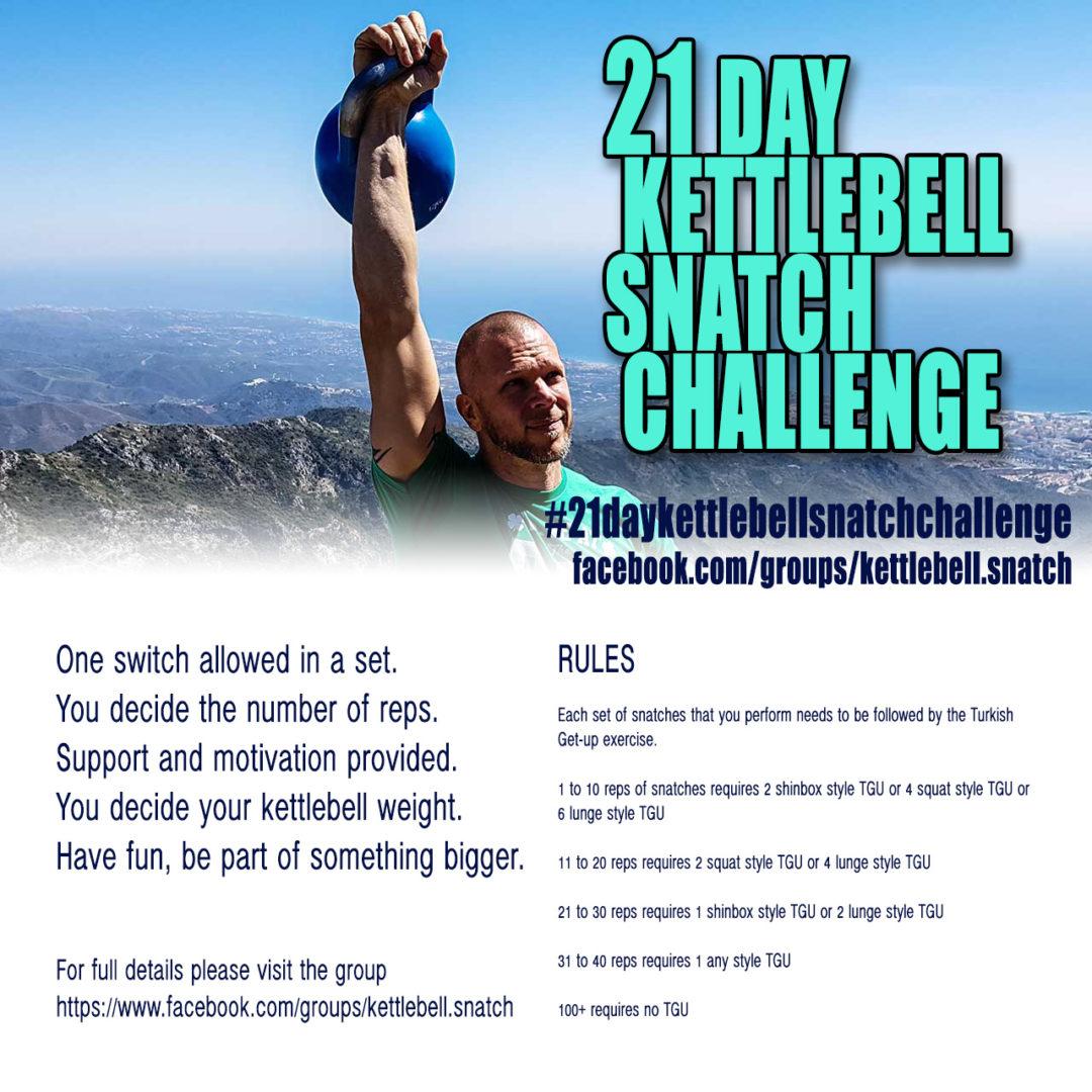 Kettlebell Swing Challenge: 21 Day Kettlebell Snatch Challenge