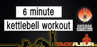 Six minute kettlebell workout