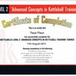 kettlebells lvl 2 certificate