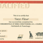 mma conditioning lvl 1 certificate
