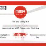 mma fitness lvl 2 certifcate