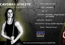 Caveman Athlete Kelly Manzone