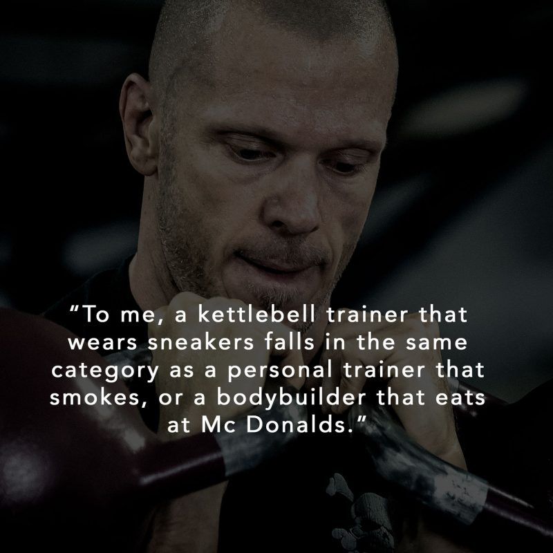 Should you wear shoes during kettlebell training?
