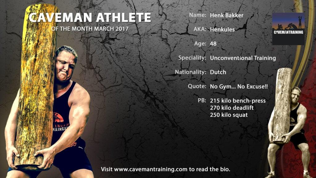 Caveman athlete March Henk Bakker