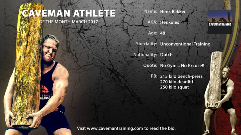 Caveman athlete March Henk Bakker