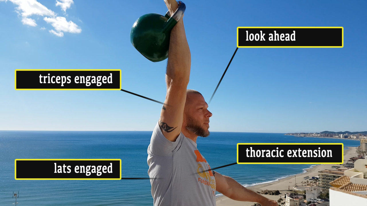 Overhead lockout with thoracic extension