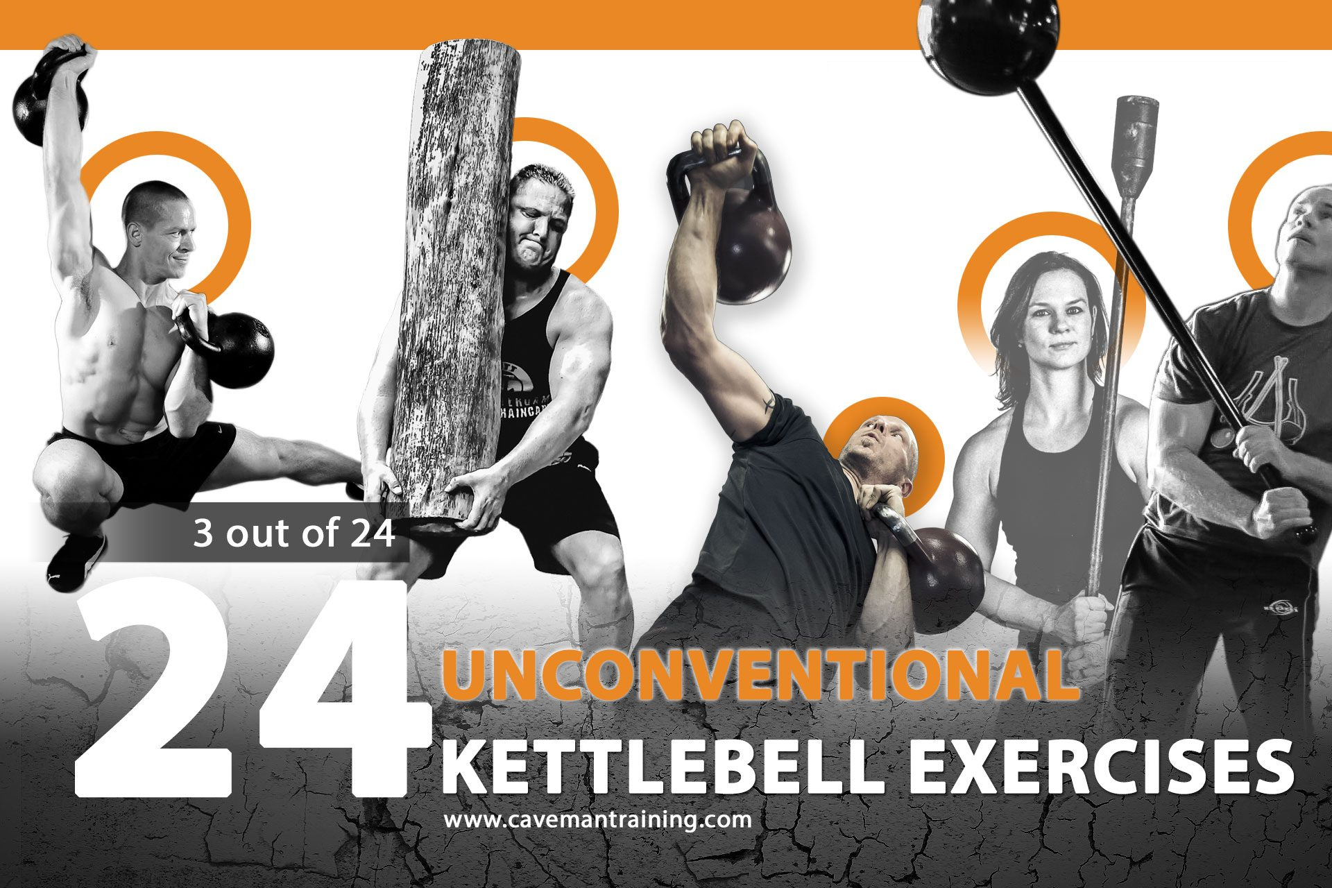 3 out of 24 unconventional kettlebell exercises
