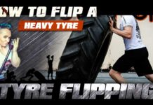How to flip a heavy tyre
