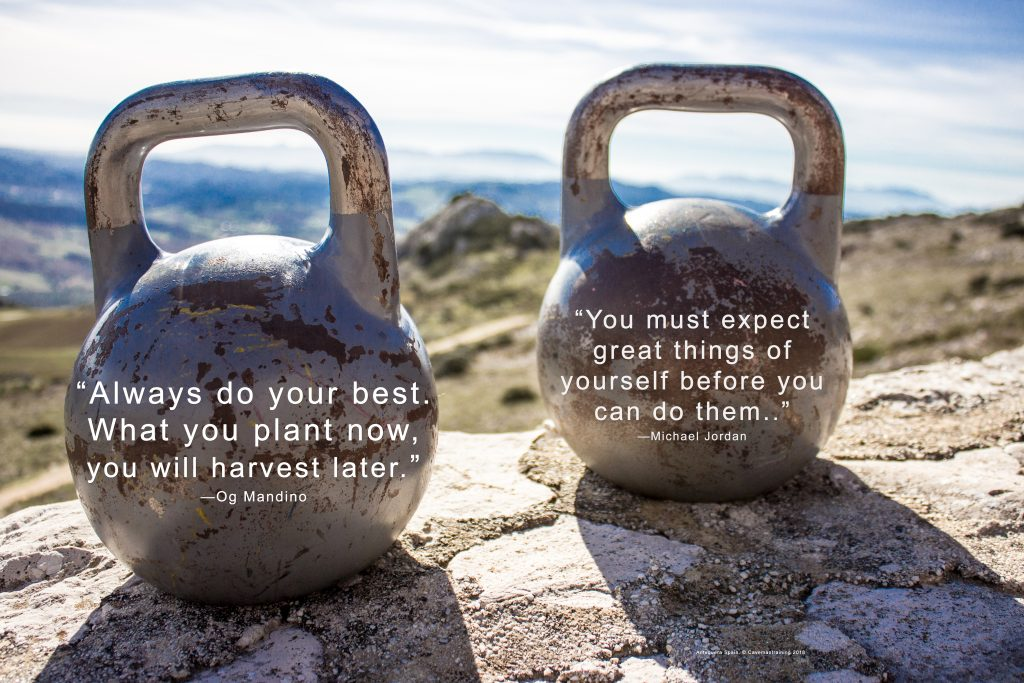 kettlebell poster with quotes