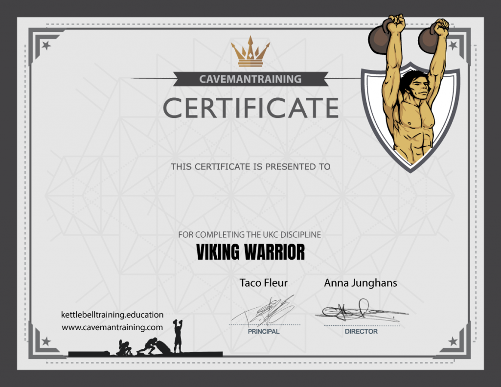 certificate ukc viking warrior