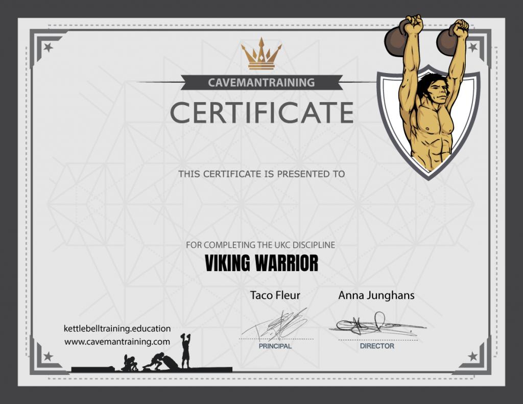 certificate ukc viking warrior