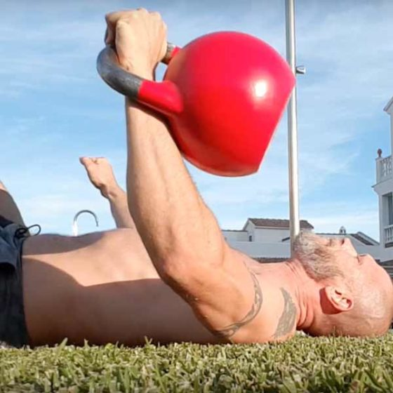 Functional exercise 4. the chest press
