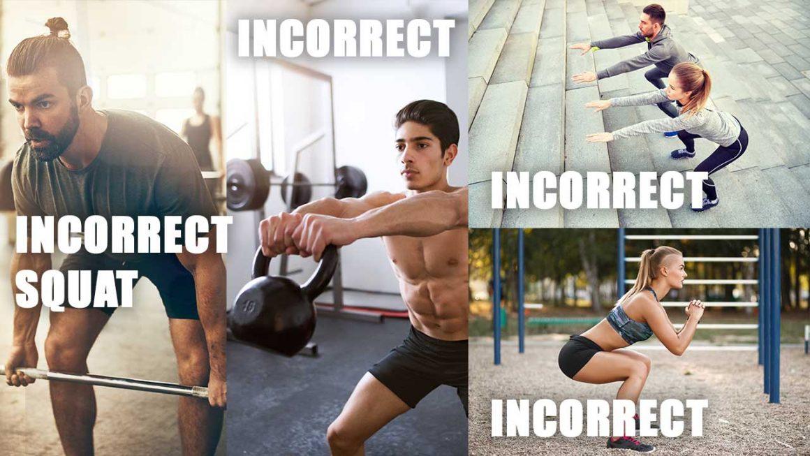 incorrect squat technique