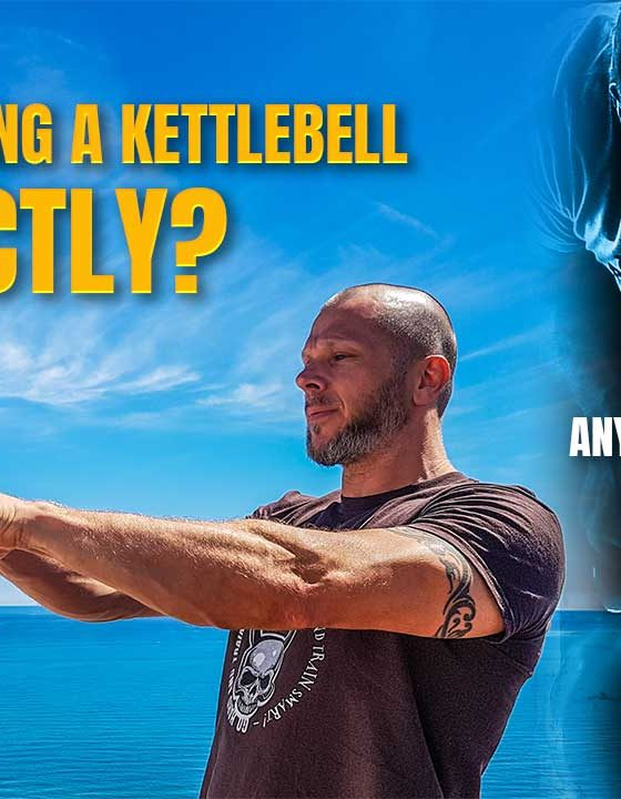 How to swing a kettlebell correctly?