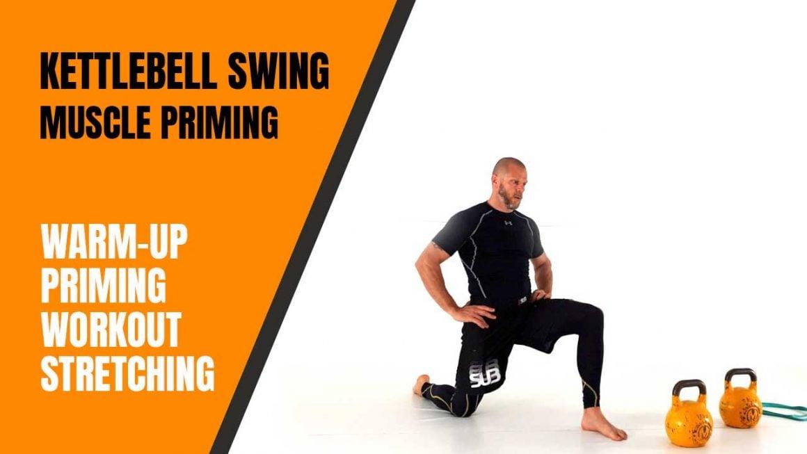 Kettlebell swing muscle priming