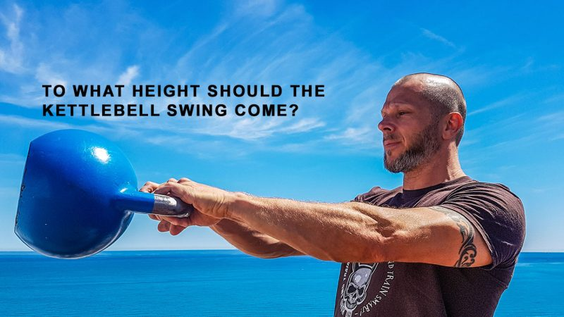 How high should you swing a kettlebell?