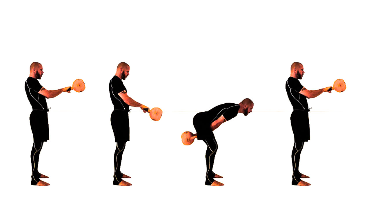 Kettlebell swing height