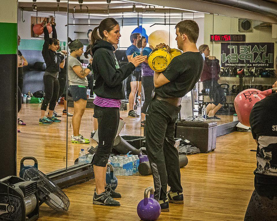 Jennifer Hintenberger Teaching Kettlebell Sport