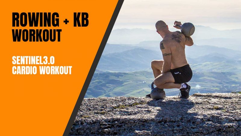 Rowing and kettlebell workout