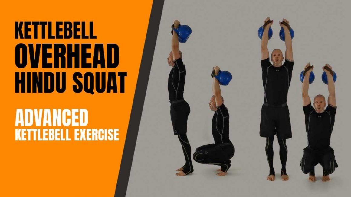 Kettlebell exercise overhead hindu squat