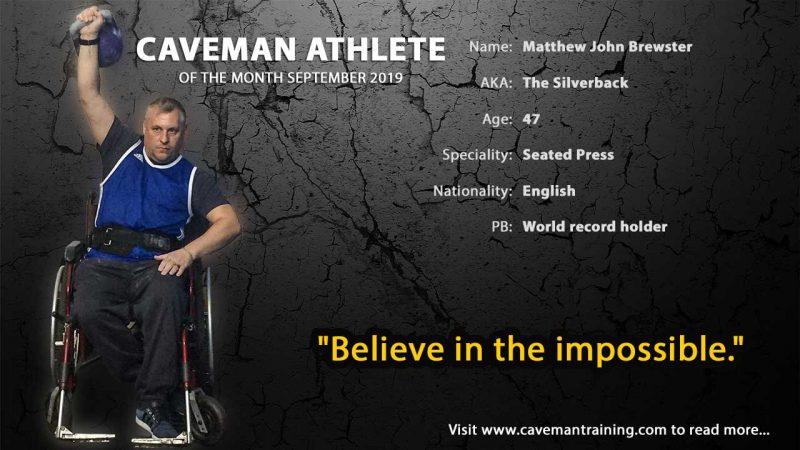 Kettlebell parasports athlete