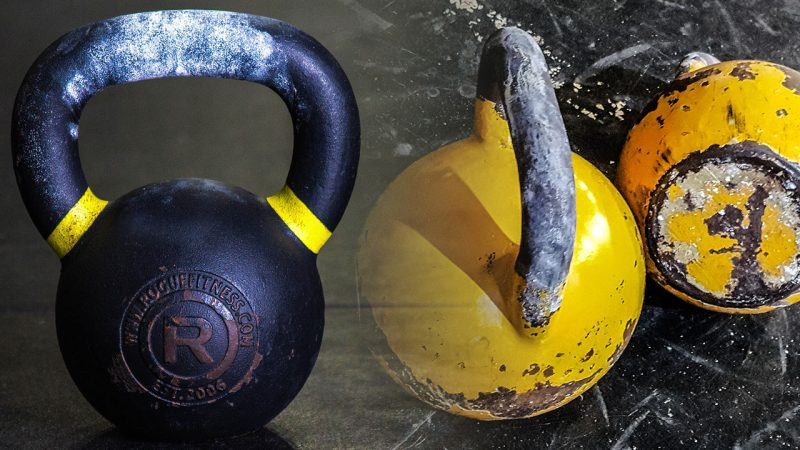 Cast iron versus competition kettlebell
