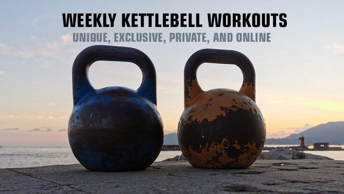 Weekly kettlebell workouts