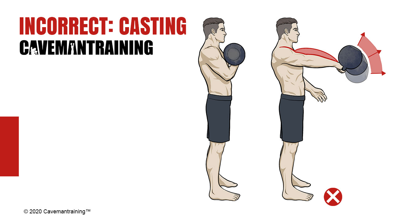 Kettlebell Clean Incorrect Casting