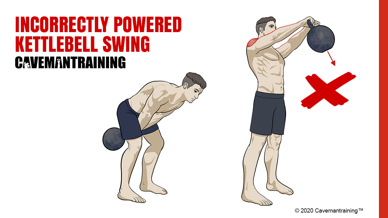 Incorrectly Powered Kettlebell Swing