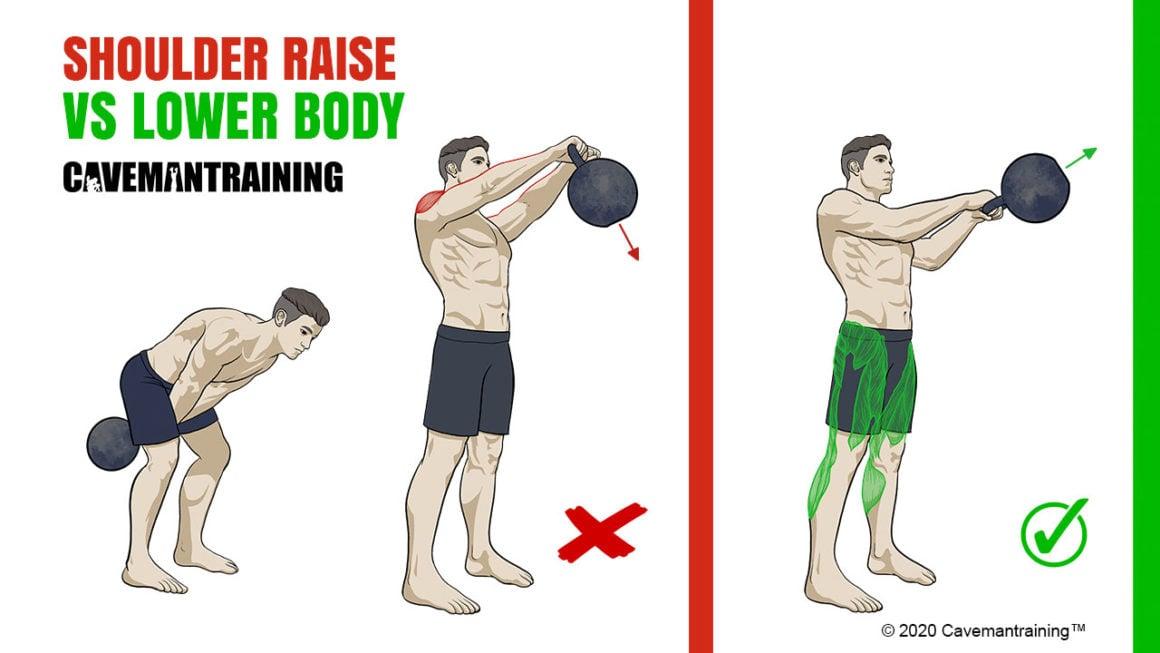 Kettlebell Swing Incorrect Technique