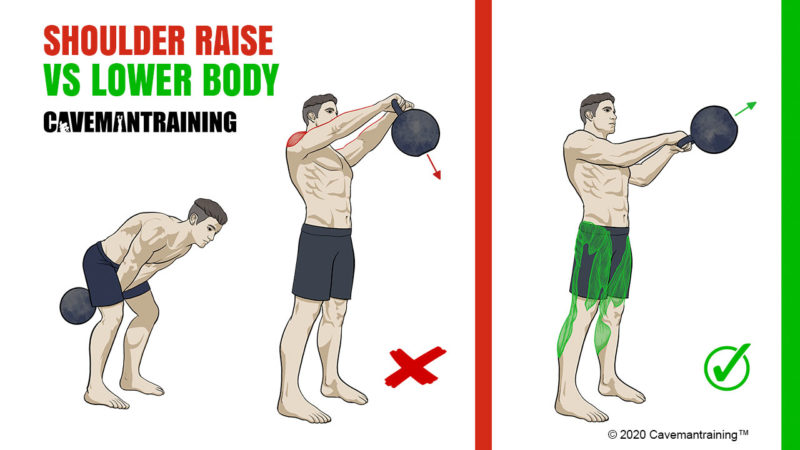Kettlebell Swing Incorrect Technique