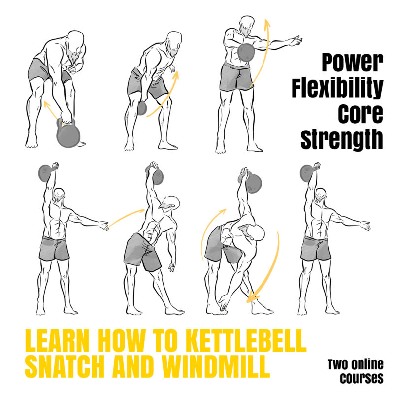 Kettlebell Snatch and Windmill