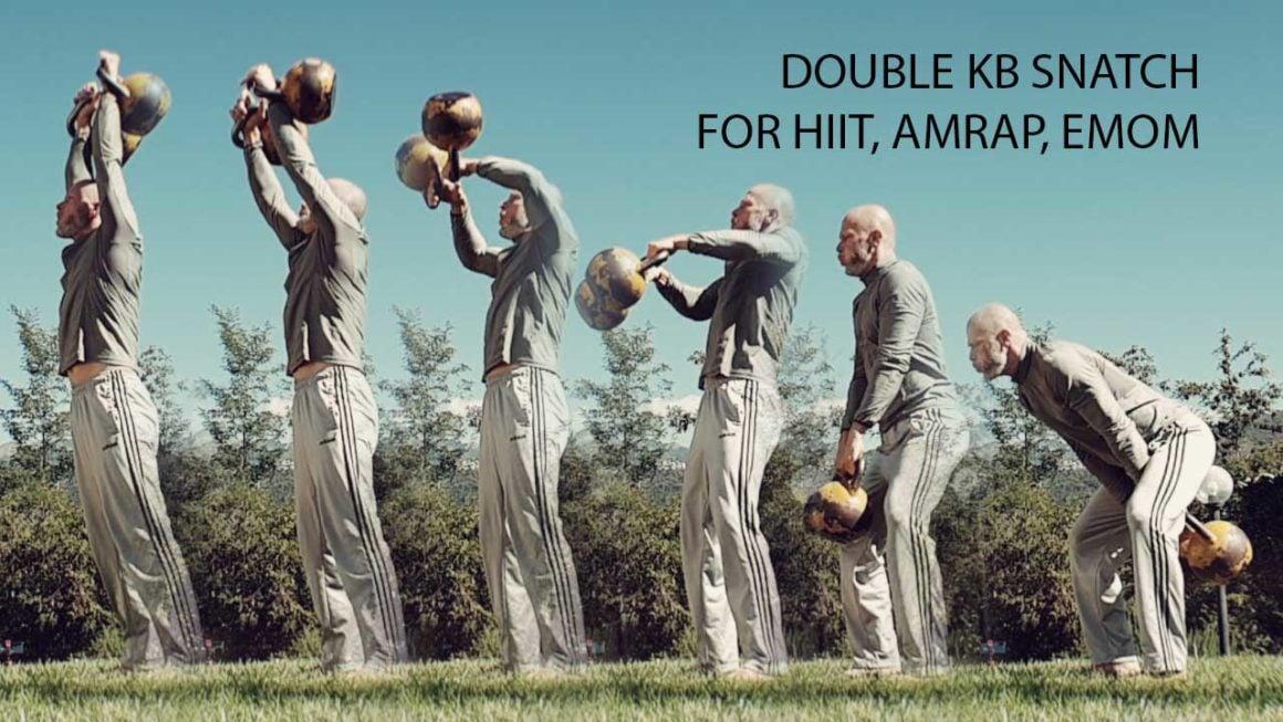 Double kettlebell snatch