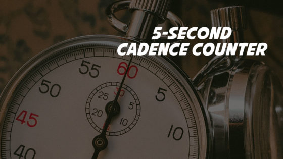 Cadence counter interval training