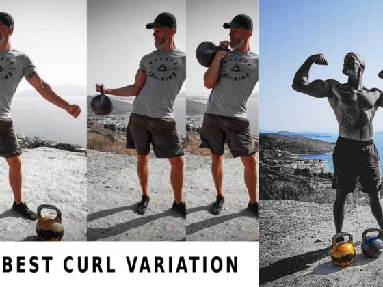 Kettlebell curl for muscle growth