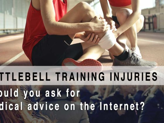 Should you ask for medical advice on the Internet for kettlebell injuries?